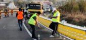 A început montarea unor parapete rutiere pe rulouri pe DN7, în Chitila